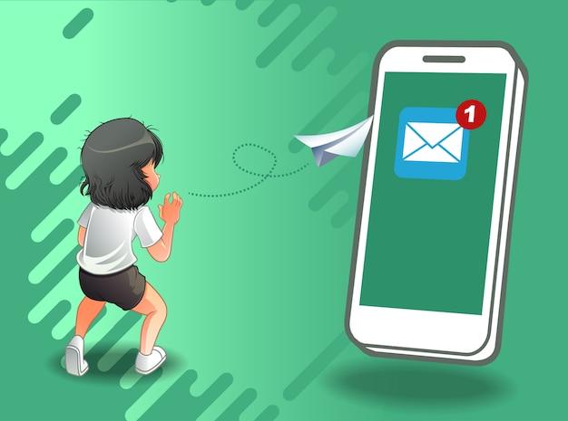 E-mail verzenden via internet.