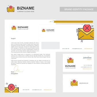 E-mailbusiness, briefhoofd en kaartsjabloon
