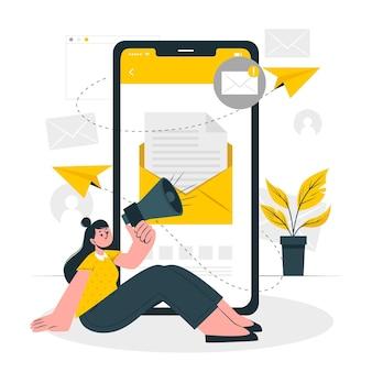 E-mailcampagne concept illustratie