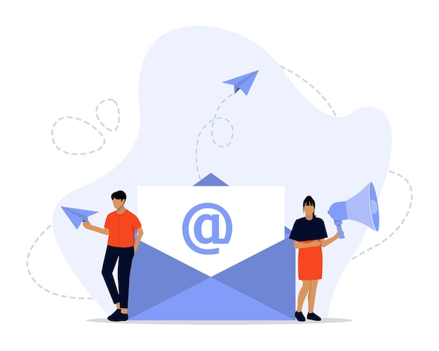 E-mailmarketing concept illustratie