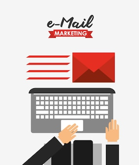 E-mailmarketing illustratie