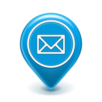 E-mailpictogram pin geïsoleerd