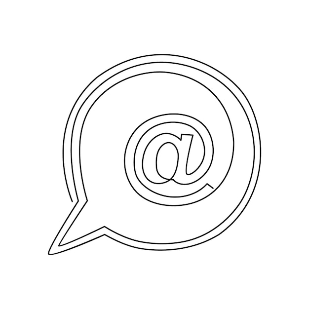 E-mailpictogrammen een doorlopende lijntekening vectorillustratie