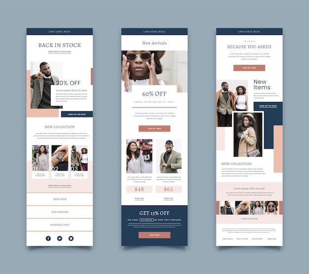 E-mailsjabloon voor e-commerce