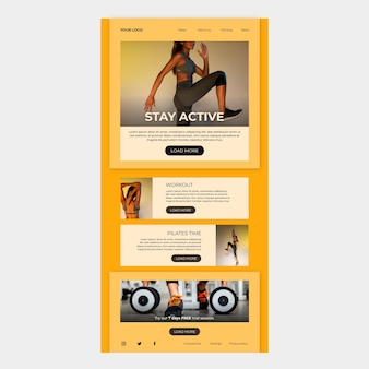 E-mailsjabloon voor fitness