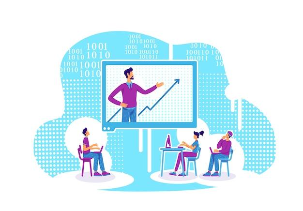 E mentoring platte concept illustratie