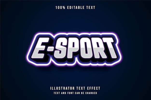 E-sport, 3d bewerkbaar teksteffect.