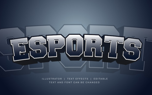 E-sport donker teksteffect