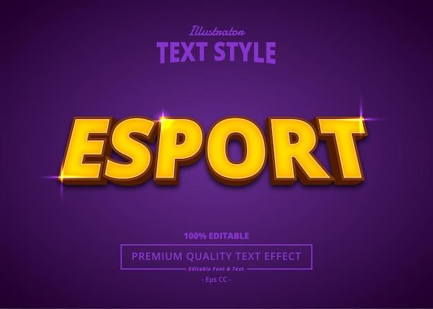 E sport illustrator-teksteffect