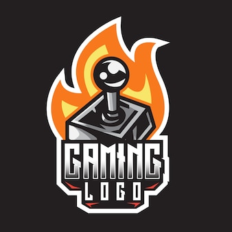 E-sport joystick gaming logo ontwerpsjabloon