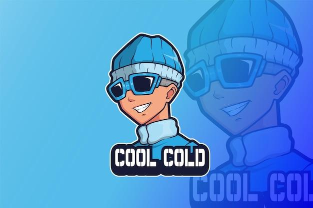 E sport logo ontwerp koude man
