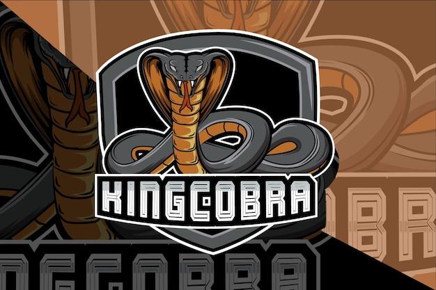 E sport logo snake ontwerp