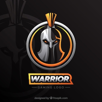 E-sport team logo sjabloon met ridder