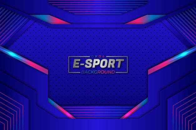 E-sports achtergrond blauwe stijl