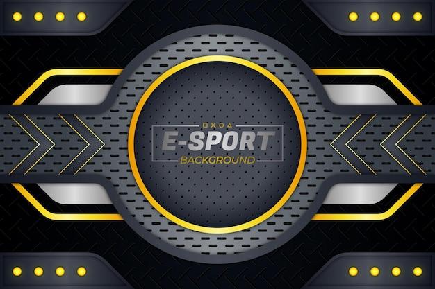 E-sports achtergrond gele stijl