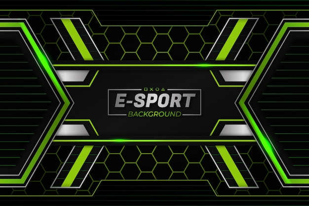 E-sports achtergrond groene stijl