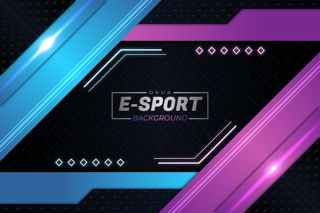 E-sports achtergrond paarse stijl