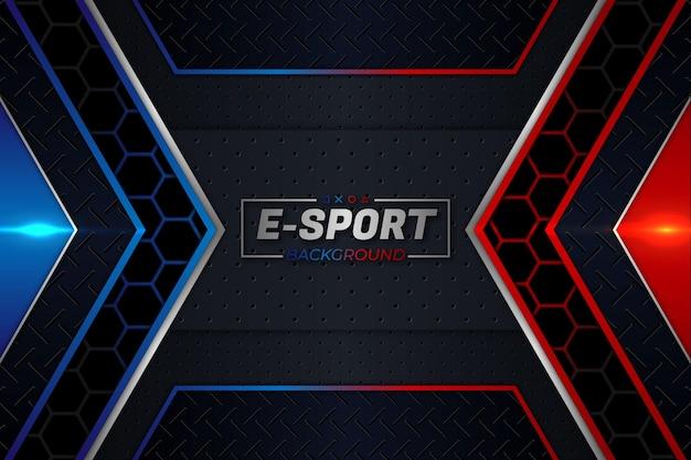 E-sports achtergrond rode en blauwe stijl