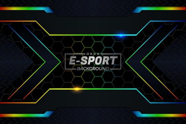E-sports rgb-stijl als achtergrond