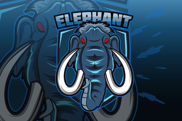E sportteam logo sjabloon met olifant
