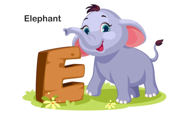 E voor elephant