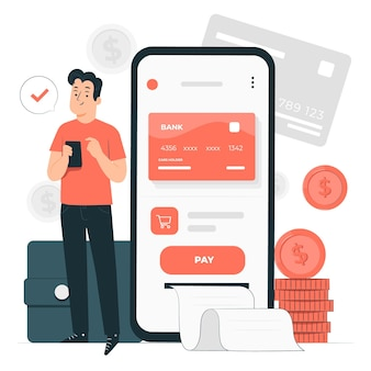 E-wallet concept illustratie