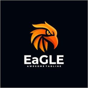 Eagle abstract logo ontwerp vector moderne kleur