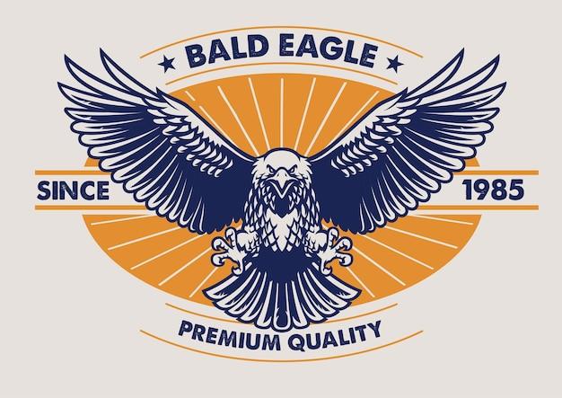 Eagle-badgeontwerp in vintage stijl