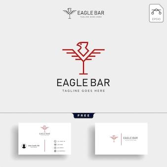 Eagle bar drinken premium logo sjabloon vectorillustratie