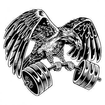 Eagle barbell-illustratie
