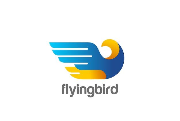 Eagle bird logo-pictogram.