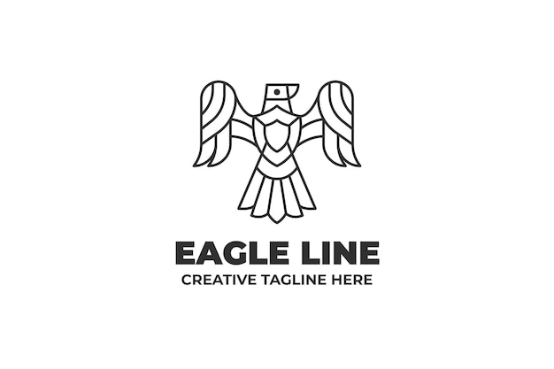 Eagle bird monoline-logo