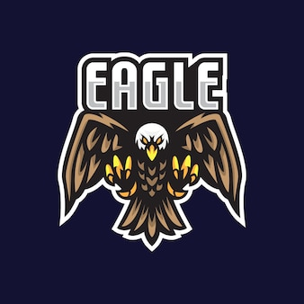 Eagle e-sport mascotte illustratie