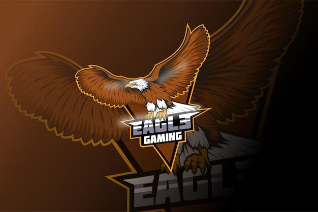Eagle e sport mascotte logo