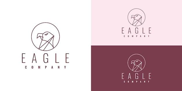 Eagle eenvoudig logo sjabloonontwerp