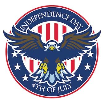 Eagle-embleem van onafhankelijkheidsdag van de verenigde staten