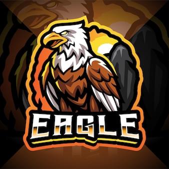 Eagle esport mascotte logo ontwerp