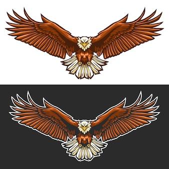 Eagle-geïsoleerd vliegillustratieontwerp
