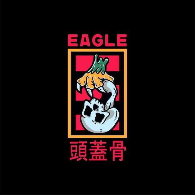 Eagle hand en schedel vintage stijl