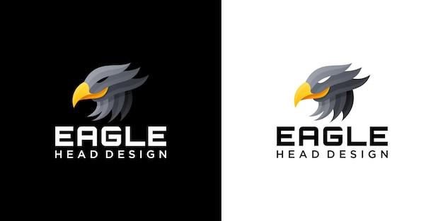 Eagle head geweldig logo-techbedrijf, beveiliging, handel, advies, biotech, optiekwinkel.