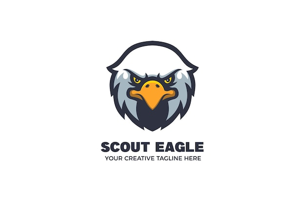 Eagle head mascot karakter logo sjabloon