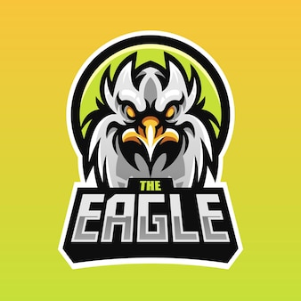 Eagle head-mascotte voor esport