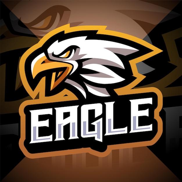 Eagle hoofd esport mascotte logo ontwerp