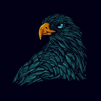 Eagle hoofd illustratie