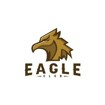 Eagle hoofd logo modern