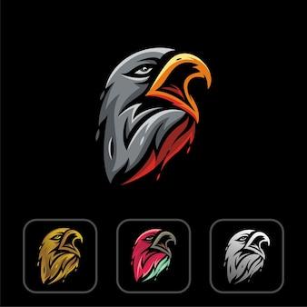 Eagle hoofd logo ontwerp