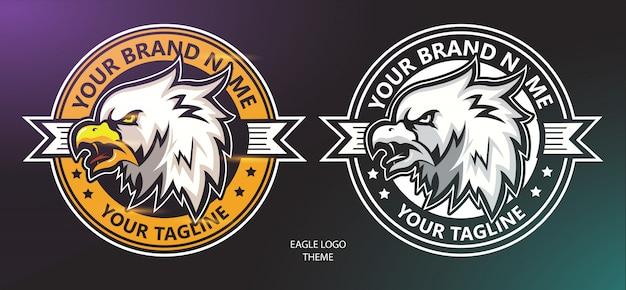 Eagle hoofd logo set