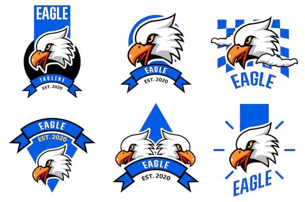 Eagle hoofd logo sjabloon instellen