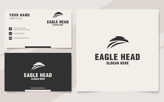 Eagle hoofd logo sjabloon op monogram stijl