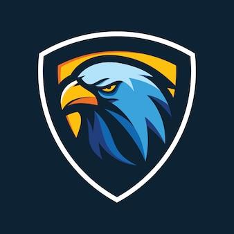 Eagle hoofd logo vector